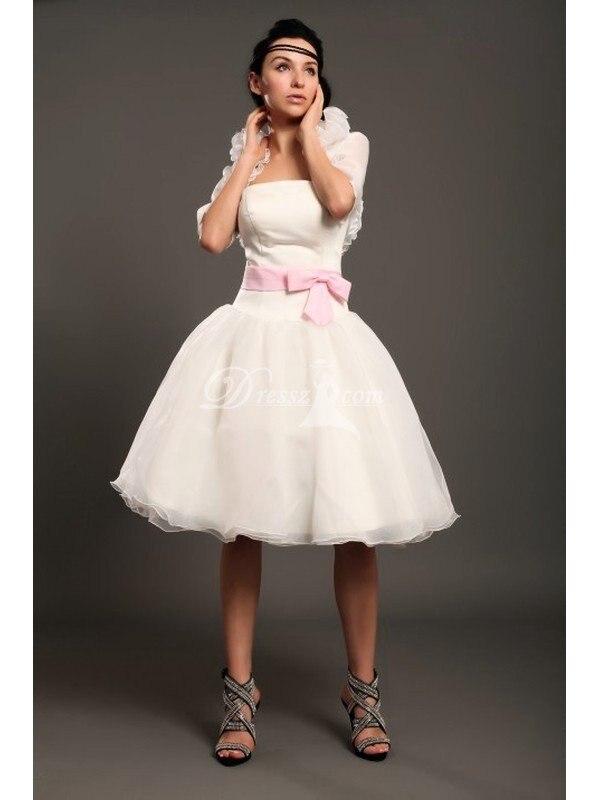 Custom Handmade Top Quality Romantic White Knee Length Bride Bridal ...
