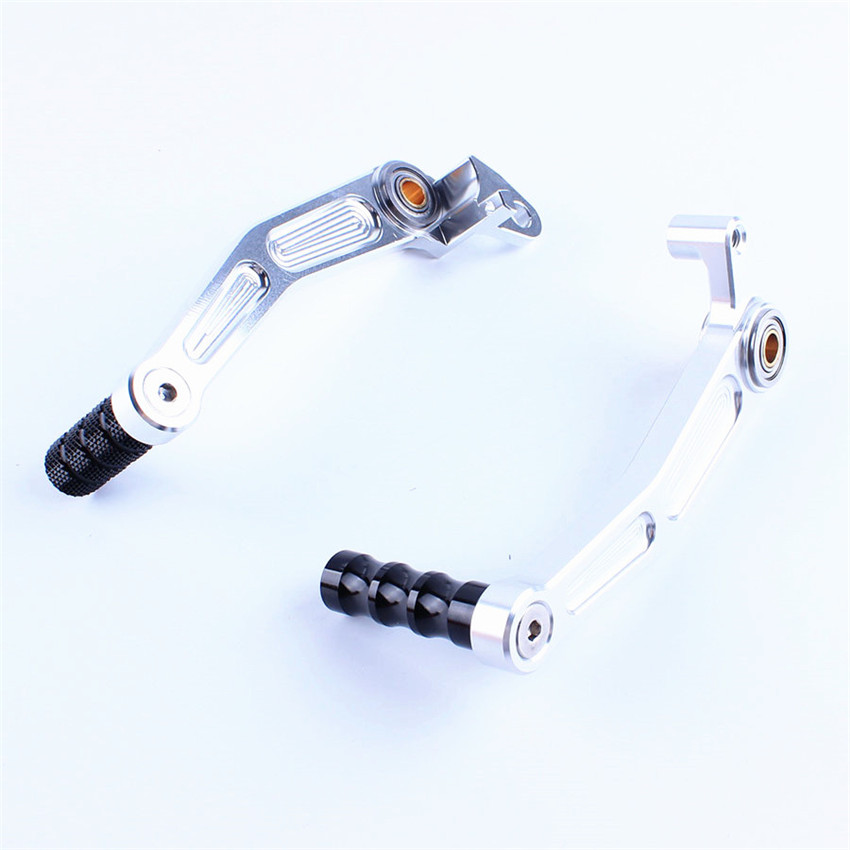 Rear Foot Brake Gear Shifter Shift Pedal Levers For KTM DUKE 125/200/390 2013-2014 Moto Accessories Silver universal motorcycle accessories gear shifter shoe case cover protector for ktm duke 125 200 390 690 990 350 1290 adventure exc