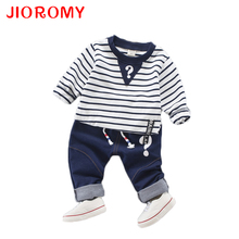 JIOROMY 2017 Kids Clothes Suit Autumn Spring Long Sleeve Collar Collar Tunic + Casual Pants Baby Clothing Sets