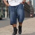 Плюс Большой Размер Мужчины Лето Шорты Джинсы Мужчин Потерять Джинсы Хип-хоп Джинсовые Брюки Новый Бренд Мешковатые Джинсы Мужчины Размер 30-42 44 46