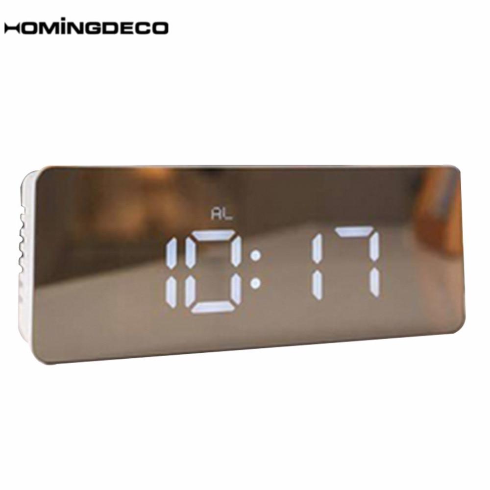 Homingdeco LED Digit Alarm Clock Desk Clock For Home Decor Numerals Desktop Table Clock Hours Needle Kids Adults Unique Gift