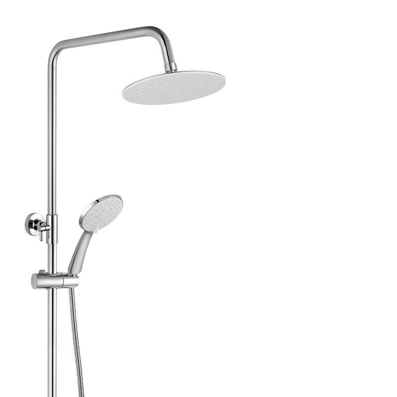 Haute qualité en laiton massif luxe pluie peinture noire douche ensemble de bain robinets mural mitigeur de douche robinets - 2