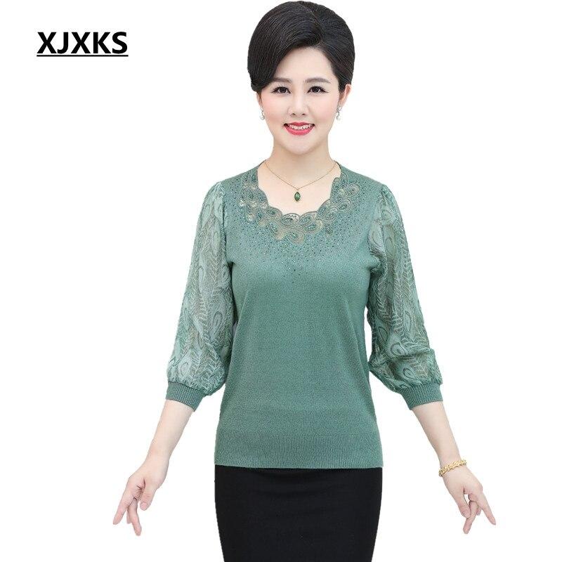 001b3272db XJXKS Thin Sweater Wonder Woman Jumper Lace Poncho Women Sweaters And  Pullovers Plus Size S-