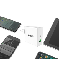 Tutuo 60W USB Type C Charger Mobile Phone Charger Wall Travel Charger Adapter Fast Charging For Macbook For Smartphone For iPhon