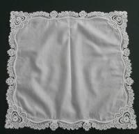 Hight Quality White 100 Cotton Computer Embroidery Handkerchief Lace Flowers Handkerchief Free Shipping
