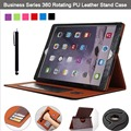 For Apple iPad Air 1/ iPAD 5 360 Degree Rotating Pu Leather Stand Folio Case Cover (Hand Strap, Multi-Angle, Card Holder)