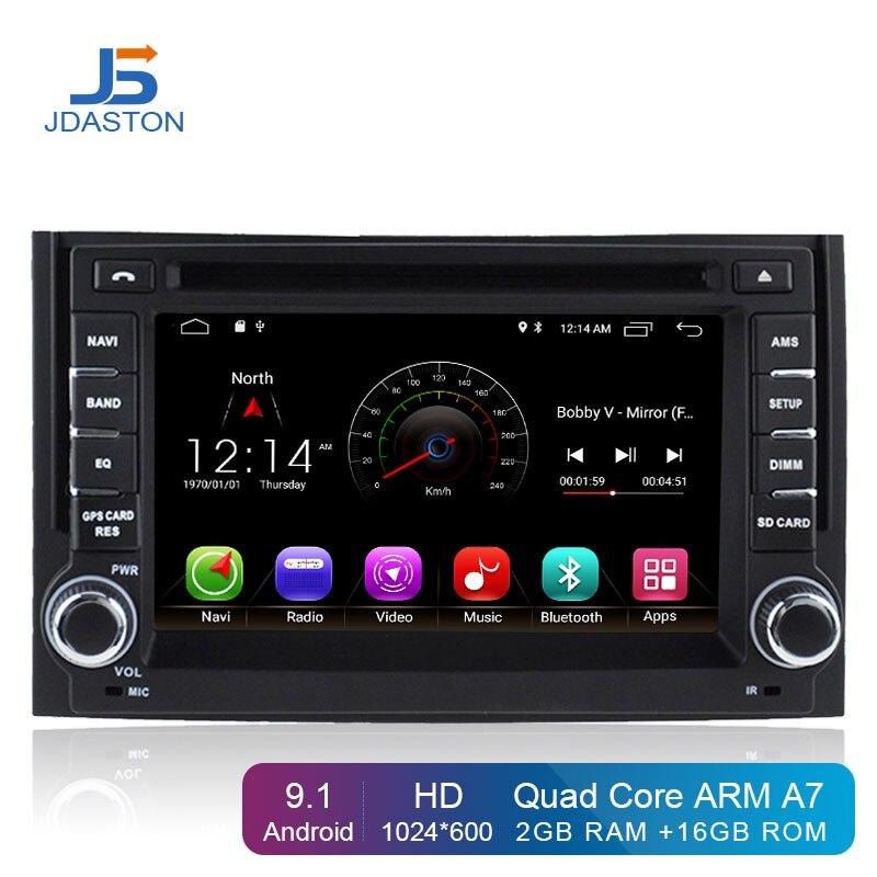 JDASTON Android 9.1 lecteur DVD de voiture pour Hyundai H1 STAREX GPS Navigation 2 Din autoradio stéréo multimédia WIFI Bluetooth RDS carte