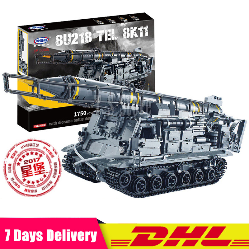 Dhl Xingbao 06005 Military Series The 8U218 TEL 8K11 Set Building Blocks Bricks Educational Model Toys For Children Gifts wange mechanical application of the crown gear model building blocks for children the pulley scientific learning education toys