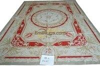 Large Vintage Style Antique Wool Rug Carpet antique Aubusson Carpet Elegant Floral Antique Handknotted Wool Aubusson Carpet