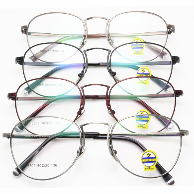 New Edition Too Lang Fund Myopia Spectacle Frame Korean Restore Ancient Ways Exceed Light Metal Small Round Frame Glasses