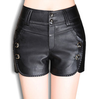 Women S Clothing Fashion Leather Shorts 2017 New Slim Casual Shorts Spring And Summer Clothes D0825