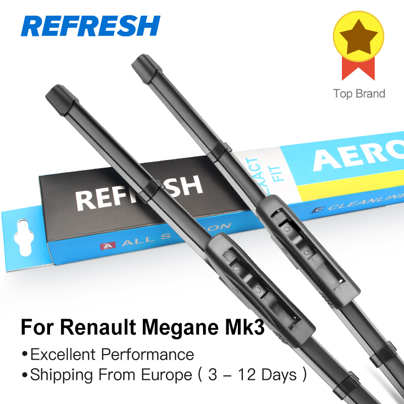 REFRESH Wiper Blades for Renault Megane Mk3 24&16 Fit Bayonet Arms 2008 2009 2010 2011 2012 2013 2014 2015 2016