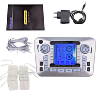 Dual Output Pulse TENS Massage Digital Therapy Physiotherapy EMS Massager Electrical Nerve Muscle Stimulator Pain Relief Machine