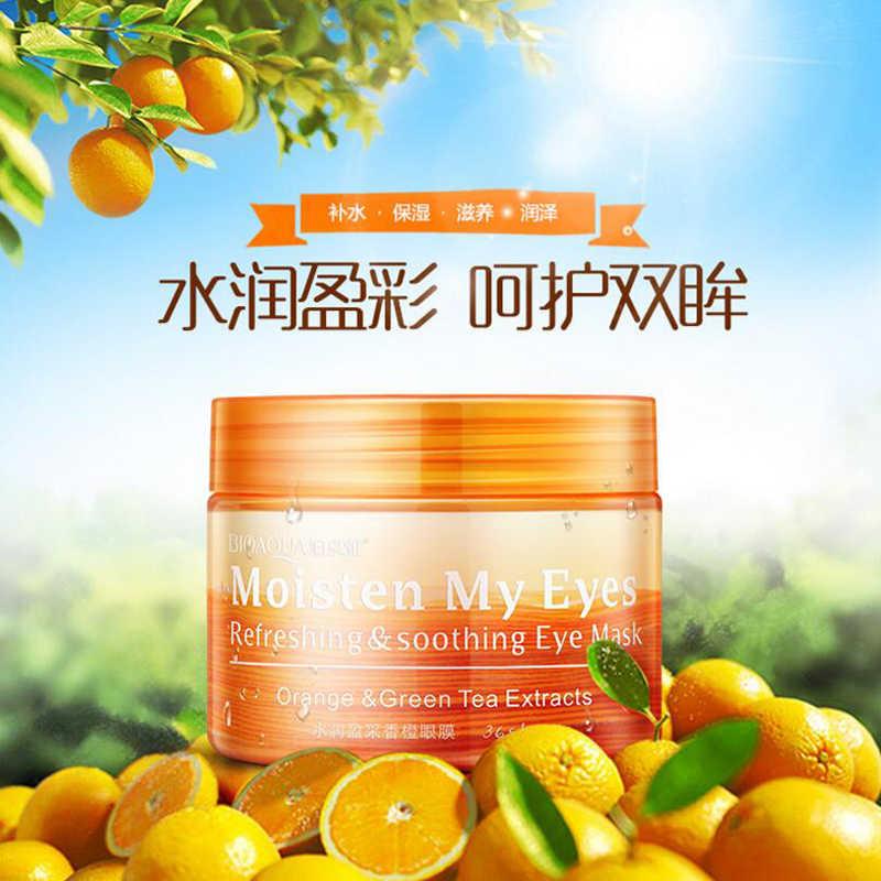 36 ピース/ボトル BIOAQUA オレンジ保湿アイマスクさわやかなだめる栄養保湿優しいスキンケア女性