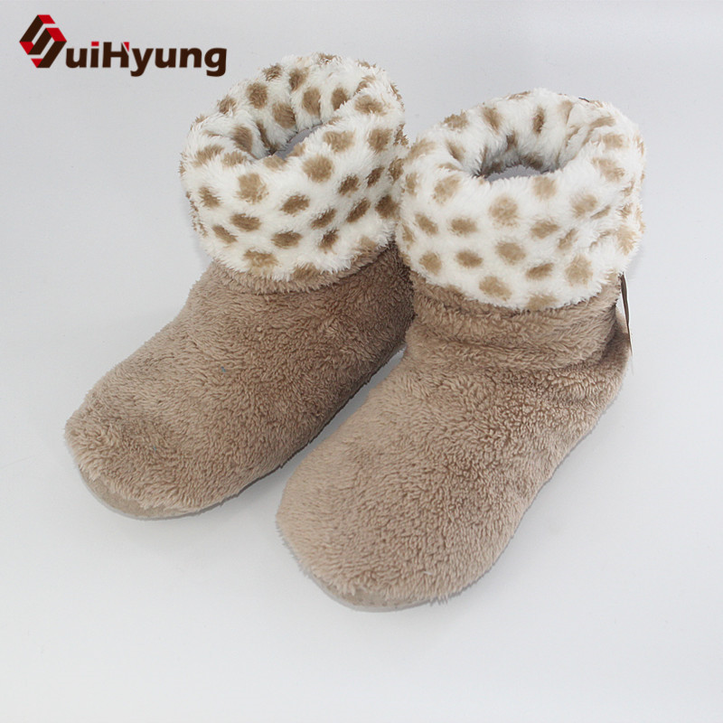 Suihyung Women Winter Warm Indoor Shoes Home Slippers Bedroom Mute Non-slip Floor Slippers Cotton Shoes Botas Female House Shoes jianbudan 2017 new winter high quality cotton shoes men and women indoor warm slippers non slip mute home cotton drag