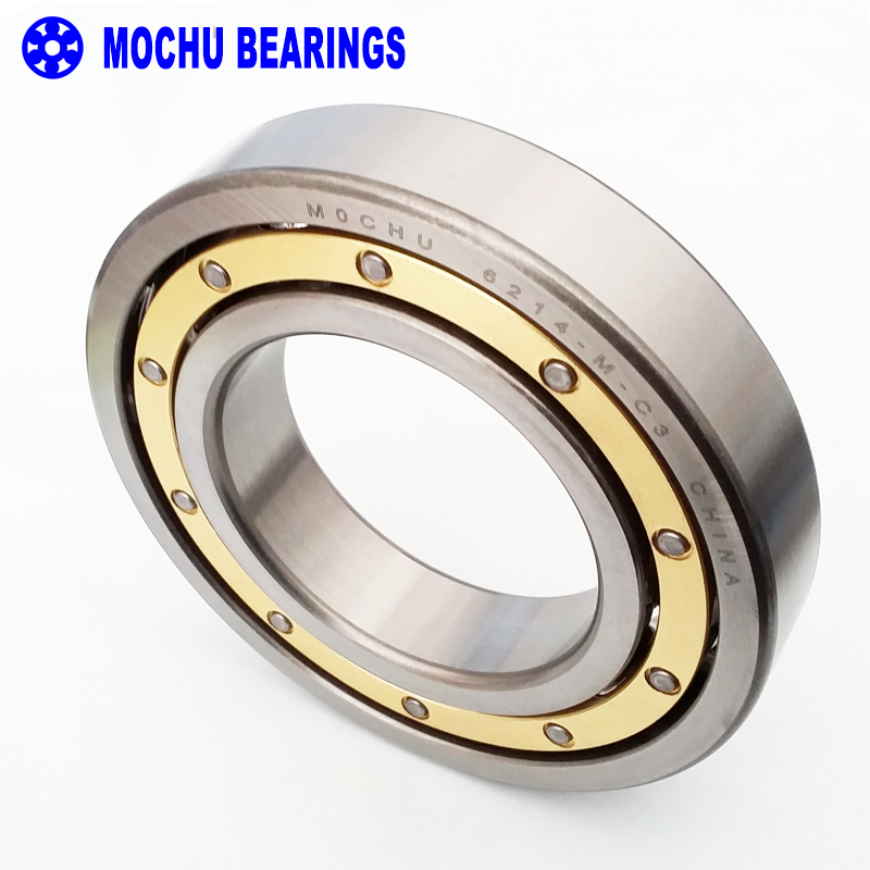 1pcs bearing 6214 6214-M-C3 70x125x24 MOCHU Solid brass cage Deep groove ball bearings Single row High Quality bearings 6007rs 35mm x 62mm x 14mm deep groove single row sealed rolling bearing