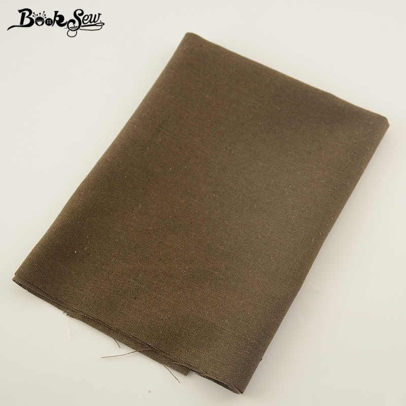 Booksew Marrone Scuro In Cotone E Lino Tessuto Africano Materiale Da Cucire Sacchetto Tissu Tovaglia Patchwork Tenda Zakka Tessuto Metro