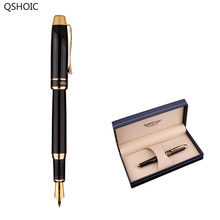 Water Fountain Pens with Gift Box Business Signature Gel Pen Student Office Gifts germany schneider bk400 fountain pen 0 5mm student with adult office writing practice iridium pen business office signature pen