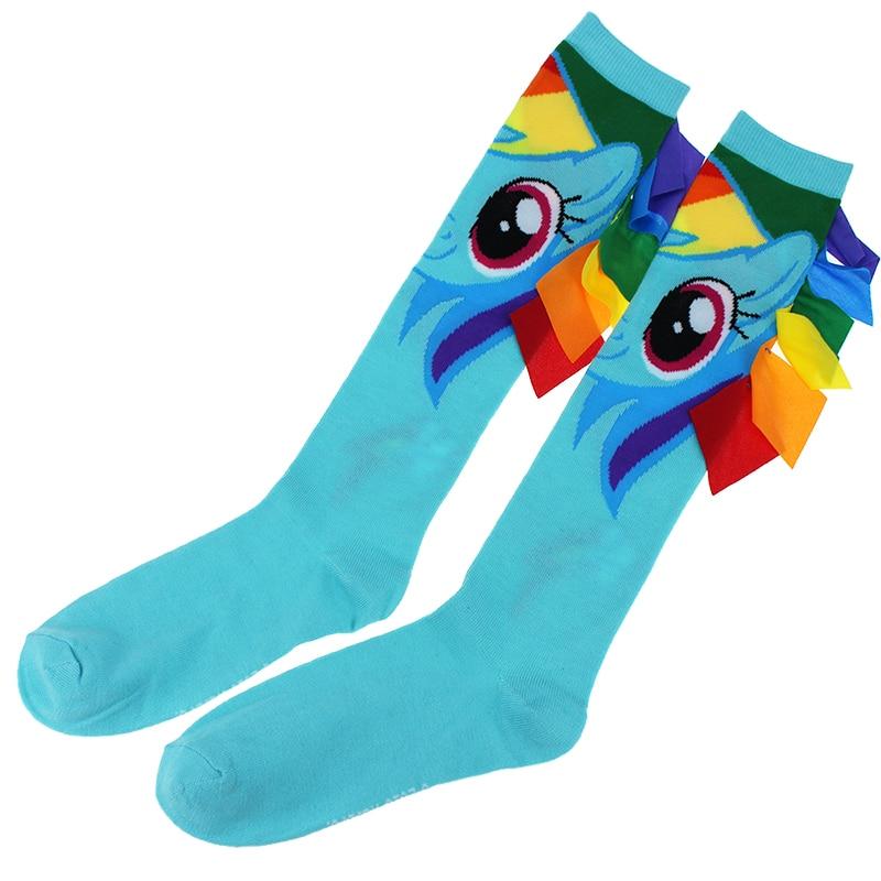 Ročno izdelane risane ženske nogavice Sladke dolžine pol leta, pomlad Poletje Novostne plesne nogavice Bombažni lik Visoko kakovostne udobne nogavice