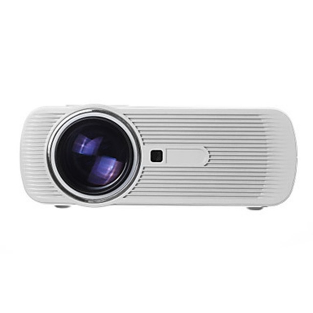 Cheap  HD 1080P 1500 LM Home Theater Video Projector  Mini LED Projector Home Multimedia  TV Laptops Smartphones BL-80 Black