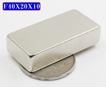 5pcs 40x20x10 mm Super Strong Sheet Rare Earth Magnet Thickness 10mm Block Rectangular Neodymium Magnets 40mm x 20mm x 10mm image