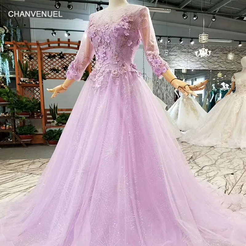LS612470 light purple girls pageant party dresses with ...