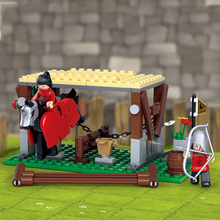 0611 Assembling Building  Blocks Creative Boy Assassin Series Empire Horse Stable Childrens Toys