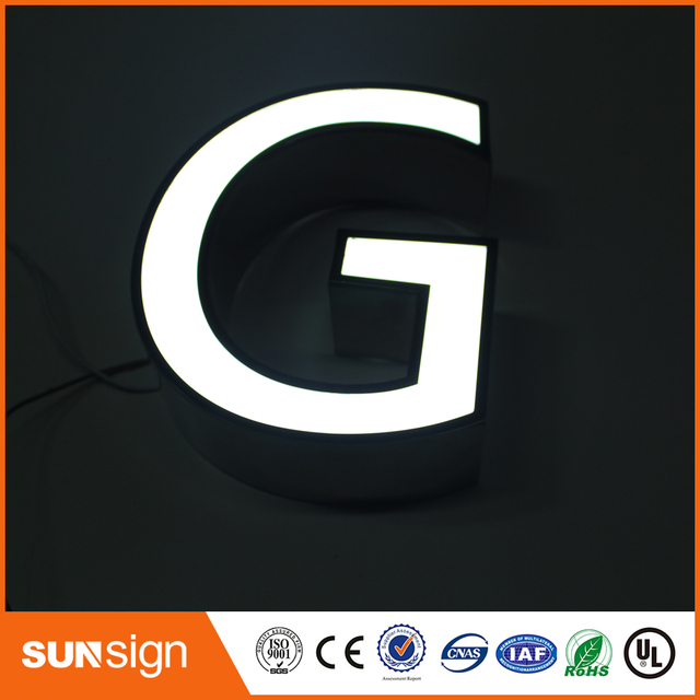 hot sale electronic panel frontlit stainless steel led letters sign
