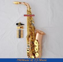 Rose Brass Alto Sax saxophone Abalone Keys With Case Matal Mouthpiece