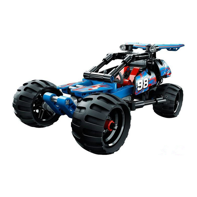 High Technic 2 in 1 Warrior Off-Roader Racer Car Model 3D Building Set Warrior Sports Car Brick Toys For Children Boys Gifts