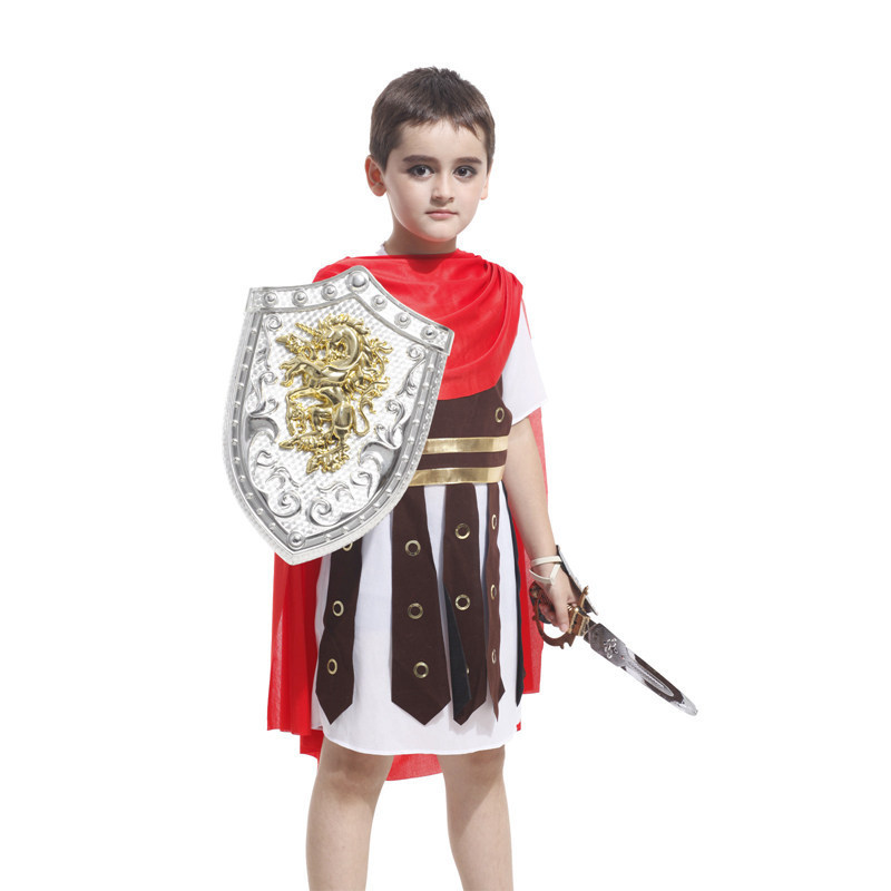 /common/upload/142/234/207/381/1422342073814_hz-fileserver ...  sc 1 st  AliExpress.com & On Sale Boys Roman Soldier Costume Cute Red Cape Rompers Kids New ...