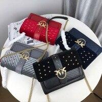 Biseafairy 2019 сумка через плечо знаменитый бренд сумки высокое качество женская сумка из натуральной кожи с буквами bolsas новые заклепки цепи