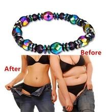 Color Twisted Hematite Slimming Bracelet For Slimming Beauty Bio Magnetic Bangles Men Women Weight L