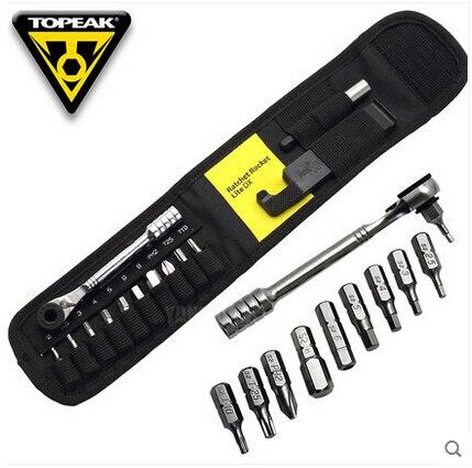 Topeak TT2524 cliquet fusée Lite DX vélo clé hexagonale Torx 15 en 1 Kits d'outils cyclisme réparation outils Portable vélo Mini ensemble d'outils