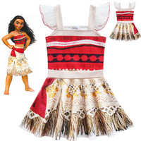 Moana Vaiana Clothes Christmas Gift Party Fancy Costume Cosplay Girls Ballet Dress Baby Kids Princess Dance