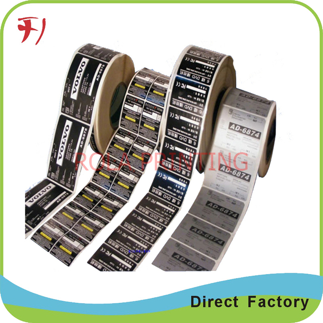 Customized self removable adhesive destructible label sticker printingroll waterproof design print label