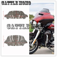 Motorcycle 8 10 Windshield Spurt Draws Skull Head Wind Deflectors For Harley Electra Glide Ultra Classic
