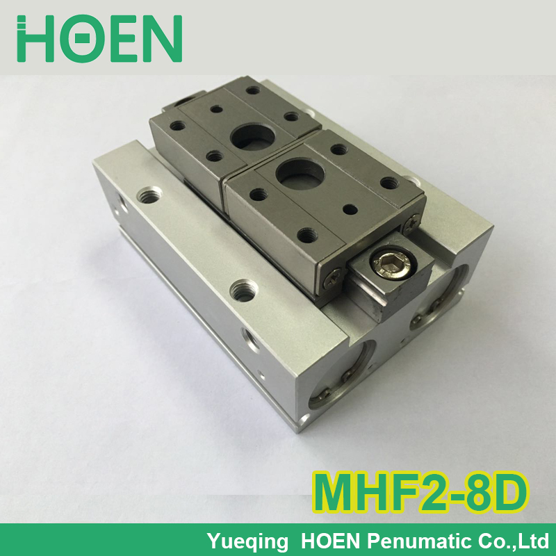 MHF2-8D SMC type air pneumatic gripper MHF2 series with strong gripping force MHF2 8D high quality double acting pneumatic gripper mhy2 25d smc type 180 degree angular style air cylinder aluminium clamps