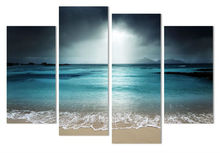 4 Piece Seaside Castle Landscape Canvas Print Painting Home Decor Wall Art Picture For Living Room Modular picture w/0698