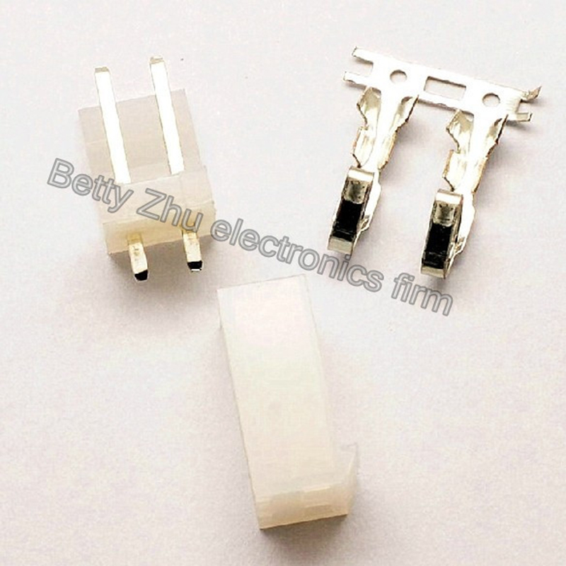 200pcs/lot Ch3.96 - 2p 2pin Terminal Block 3.96mm Pitch Connector : Plug + Plastic Straight Needle Socket + Terminal Attractive Fashion