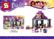 2016 New Friends SY378 346pcs Heartlake Pop Hair Salon Model Building Blocks Girls Minifigures Bricks Toys Compatible With Lego