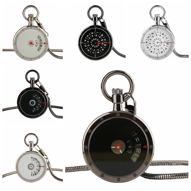 New Fashion Unique Turntable Quartz Pocket Watch Creative Eyes Eyebrow Dial Design Men Women Chic Snake Chain Pendant Gift Reloj