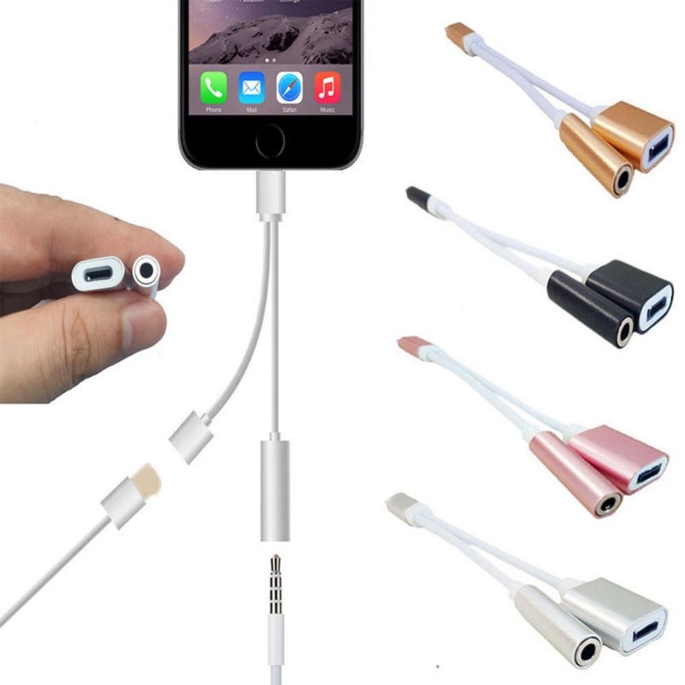 Для IOS 11 12 аудио кабель адаптер наушники для освещения до 3,5 мм 2 в 1 разъем для наушников Aux кабель конвертер для iPhone 7 8 plus X