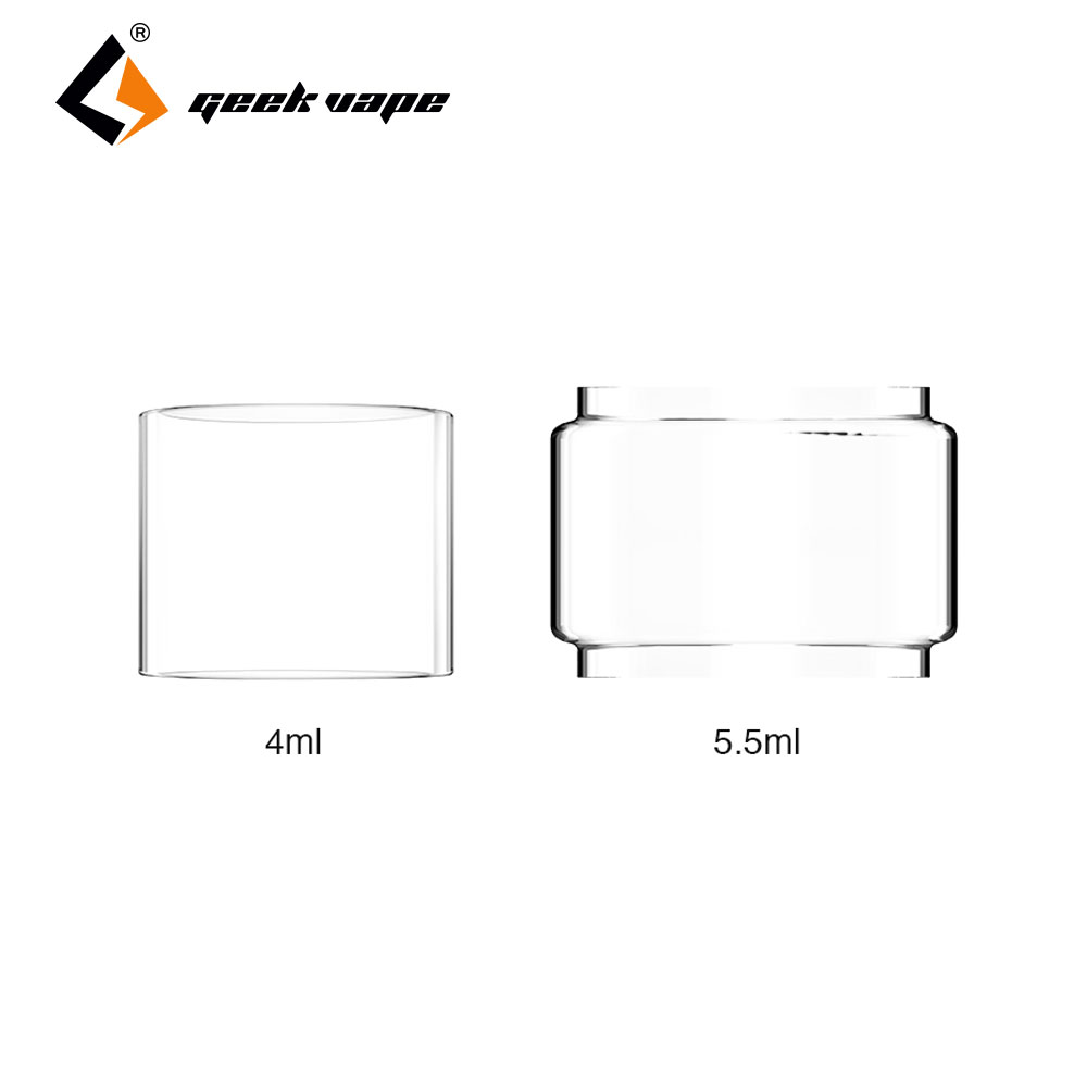 Original GeekVape Replacement Glass Tube for Zeus Dual 4ml/5.5ml Capacity Tank e cigs Geekvape Zeus Dual Glass Tube