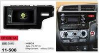 Рамки + android 6,0 dvd плеер автомобиля для honda jazz fit 2013 правый руль без SRS Мультимедиа стерео радио клейкие ленты регистраторы головных устройств