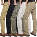 2016 Новая Мода Мужская Прямые Брюки-Карго Chinos Мужчины Вскользь Уменьшают Подходящие Весенние Брюки Одежда Большой Размер Бизнес Брюки