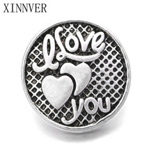 10Pcs/lot Unisex Charm Pulseras Love 18mm Metal Snap Button Jewelry For Bracelet Watches Women One Direction ZA467