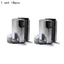 Гладкий набор 8 хромированный Душ двери ролики/душ двери ниже Крючки