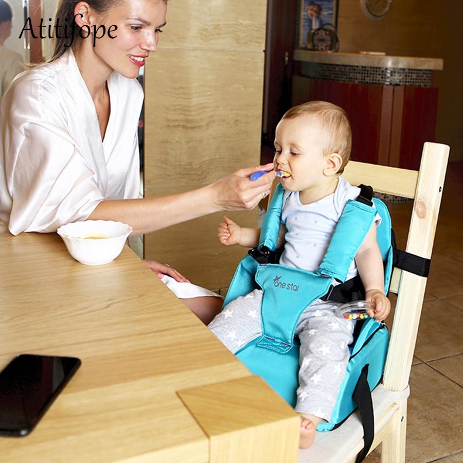 Rehausseur siège Portable bébé dinant la chaise enfants ceinture de sécurité bébé mangeant la chaise haute coussin enfant en bas âge siège doux