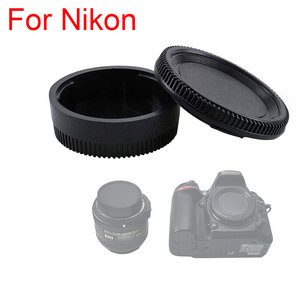 Camera Rear Lens Cap Cover + Camera Front Body Cap for Nikon D3400 D3300 D3100 D5500 D5300 D7200 D7100 D750 D500 D40 DSLR Camera(China)